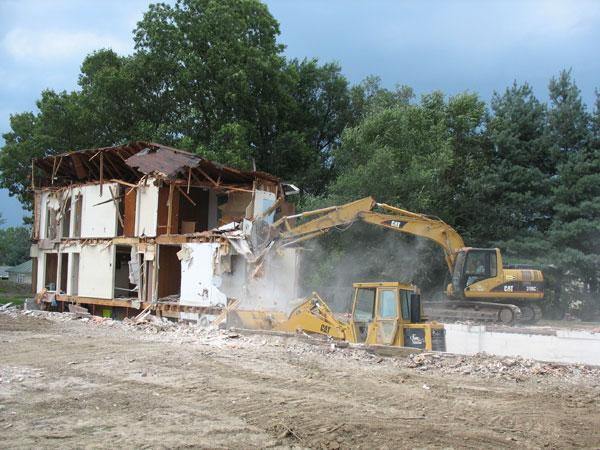 Final stage of demolition